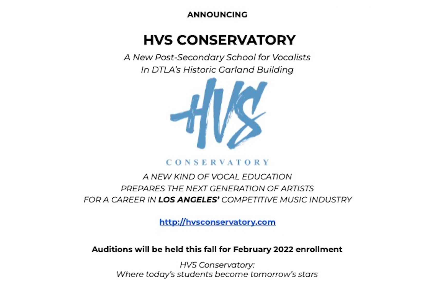 Announcing HVS Conservatory